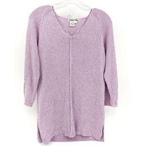 WinterSilks Lavender Pink Silk Tunic Sweater Sz M
